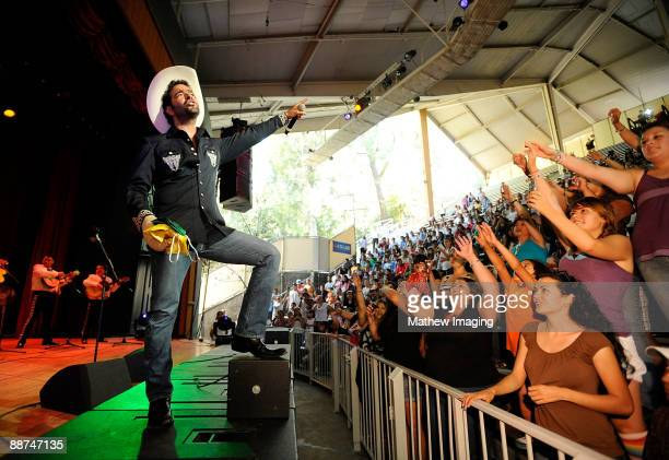 COVERAGE***Singer Pablo Montero performs in the Golden Bear Theater at Six Flags Magic Mountain on June 28 2009 in Valencia California