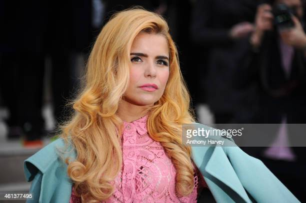 Singer Paloma Faith attends the Burberry Prorsum show during The London Collections Men Autumn/Winter 2014 on January 8 2014 in London England