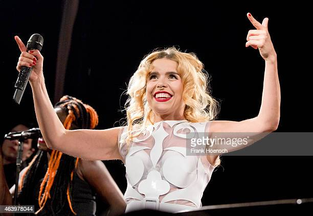 Singer Paloma Faith performs live during a concert at the Postbahnhof on February 20 2015 in Berlin Germany
