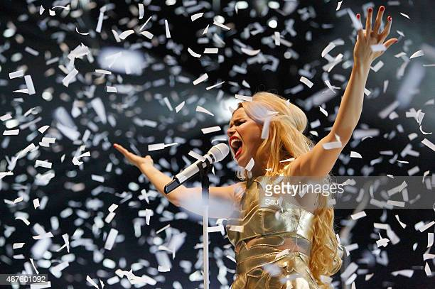 Singer Paloma Faith performs live on stage at The O2 Arena on March 25 2015 in London United Kingdom