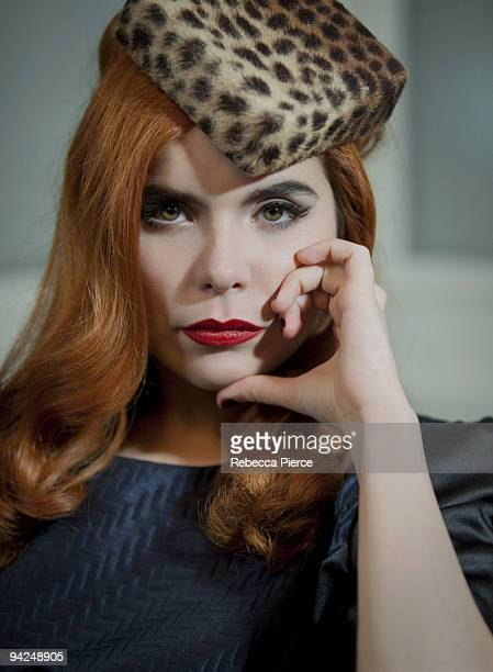 Singer Paloma Faith poses for a portrait shoot in London on October 14 2009