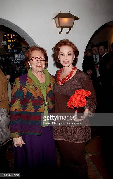 Singer Paloma San Basilio and guest attend the 'Pata Negra' Awards at Corral de la Moreria on February 21 2013 in Madrid Spain