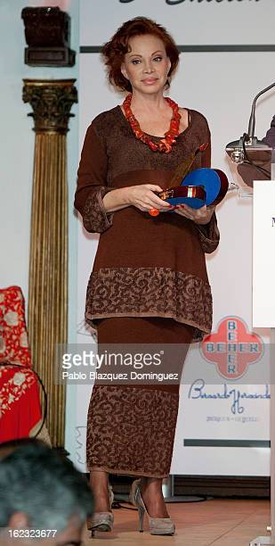 Singer Paloma San Basilio attends the 'Pata Negra' Awards at Corral de la Moreria on February 21 2013 in Madrid Spain