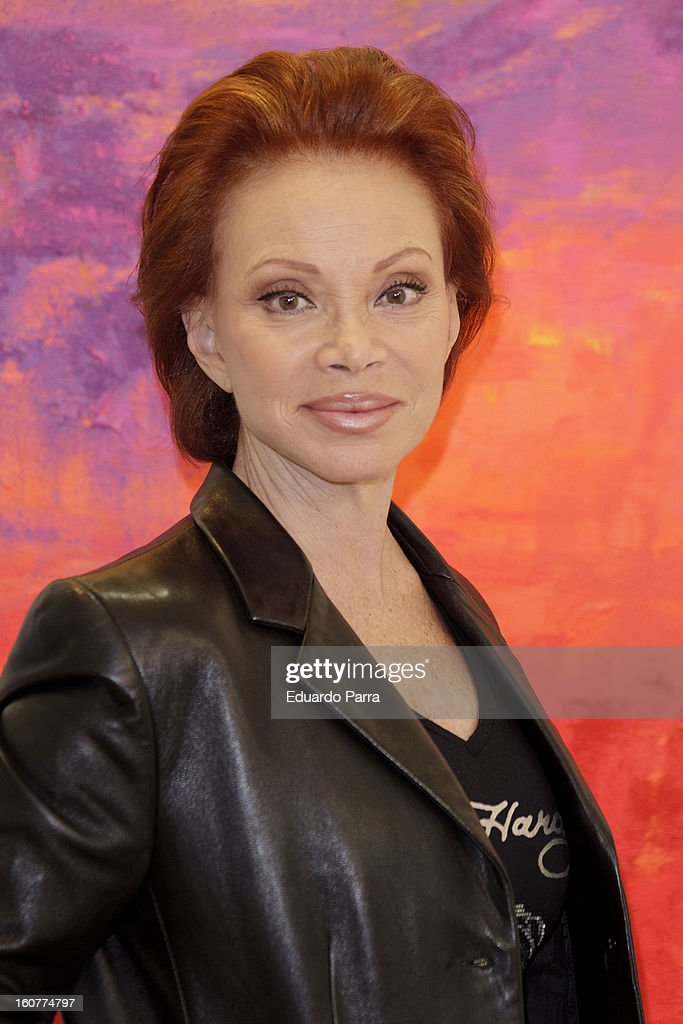 Singer Paloma San Basilio attends the presentation of his exhibition of paintings at Star gallery on February 5, 2013 in Madrid, Spain.