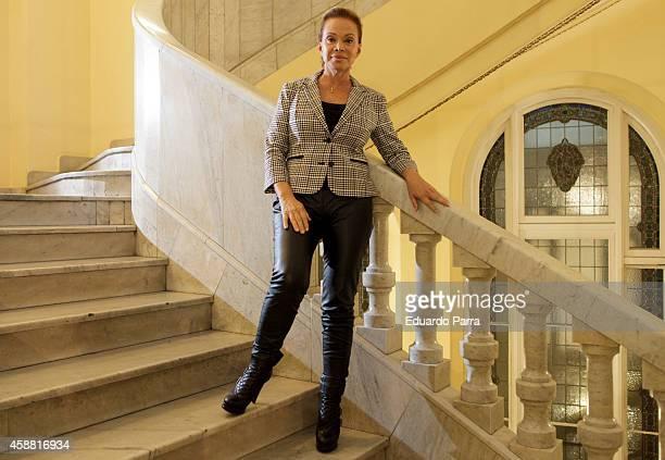 Singer Paloma San Basilio presents her new book 'La nina que bailaba bajo la lluvia' at Circulo de bellas artes on November 11 2014 in Madrid Spain