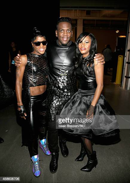 Singer Pam and Kima of Total attend the 2014 Soul Train Music Awards at the Orleans Arena on November 7, 2014 in Las Vegas, Nevada.
