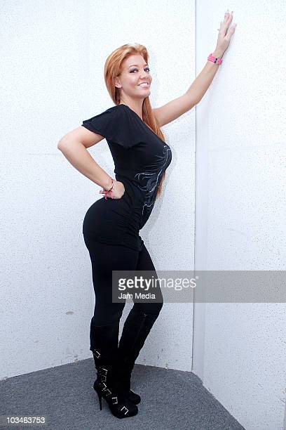 Singer Paola Durante poses for a photograph during the recording of her new album at Playa Pescadores 27 on August 19 2010 in Mexico City Mexico