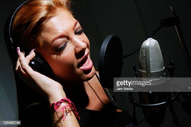 Singer Paola Durante records new album at Playa Pescadores 27 on August 19 2010 in Mexico City Mexico