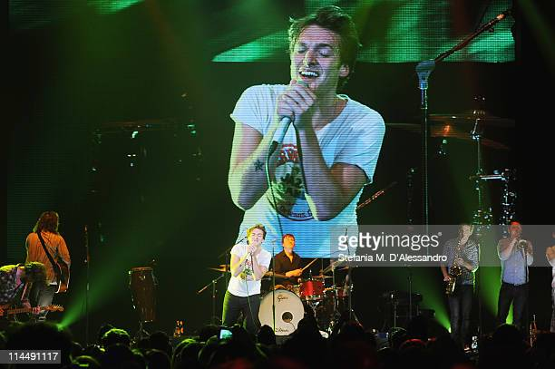 Singer Paolo Nutini performs live during Milan Range Rover Presents Evoque Live to celebrate the global tour of the Range Rover Evoque at Super...