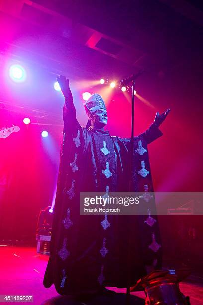 Singer Papa Emeritus of the Swedish band Ghost performs live during a concert at the CClub on November 22 2013 in Berlin Germany