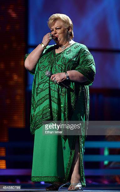 Singer Paquita la del Barrio performs during the 14th annual Latin GRAMMY Awards at the Mandalay Bay Events Center on November 21 2013 in Las Vegas...