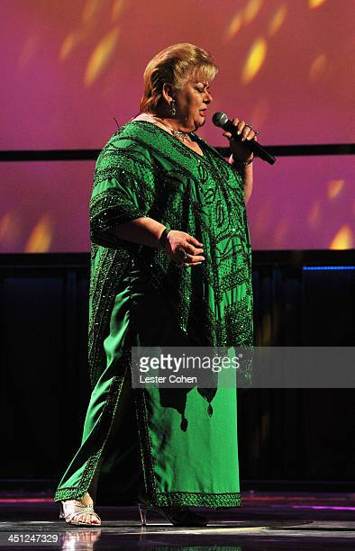 Singer Paquita la del Barrio performs onstage during The 14th Annual Latin GRAMMY Awards at the Mandalay Bay Events Center on November 21 2013 in Las...