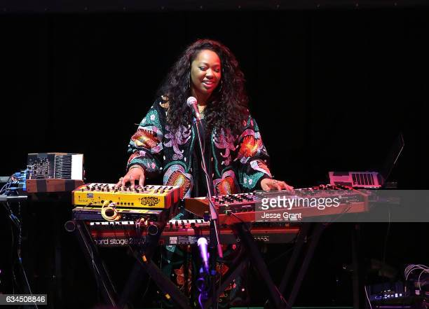 Singer Paris Strother of the band King performs during the annual GRAMMY In The Schools Live – A Celebration of Music Education presented by Ford...