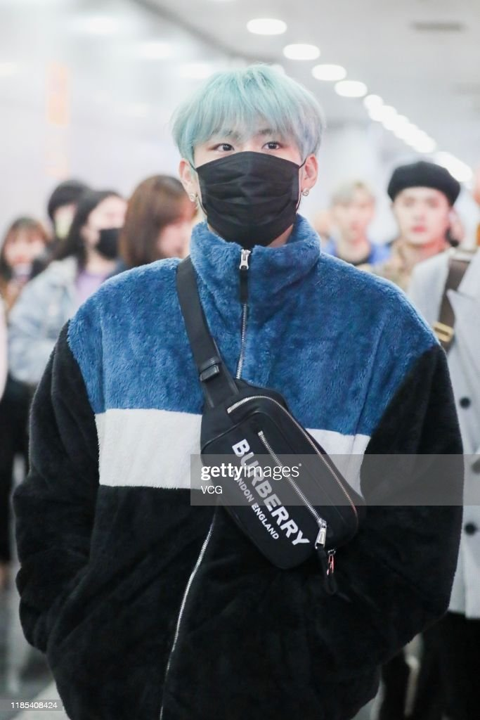 Singer Park Woo Jin Of South Korean Boy Band Ab6ix Arrives At Airport News Photo Getty Images