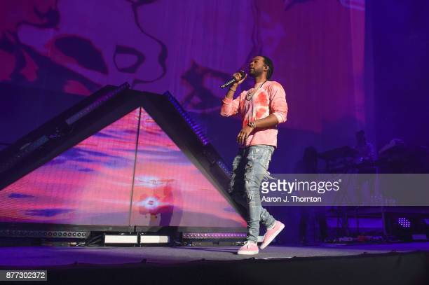Singer PartyNextDoor performs on stage at Little Caesars Arena on November 21 2017 in Detroit Michigan