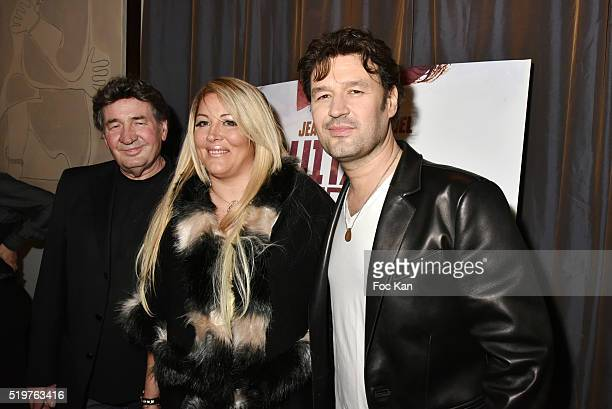 Singer Pascal Danel Loana Petrucciani and Golden disc awarded singer Jean Pierre Danel attend 'Guitar Tribute' by Golden disc awarded Jean Pierre...