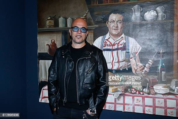 Singer Pascal Obispo attends the Coluche Exhibition Opening This exhibition is organized for the 30 years of the disappearance of Coluche Held at...
