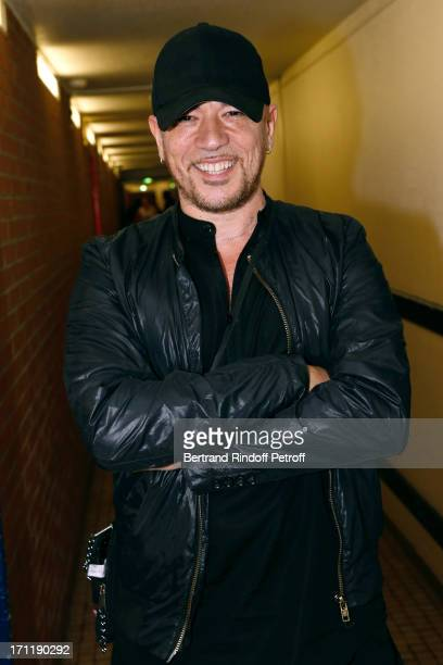 Singer Pascal Obispo attends the last concert in Paris of Patrick Bruel held at Palais Omnisports de Bercy on June 22 2013 in Paris France