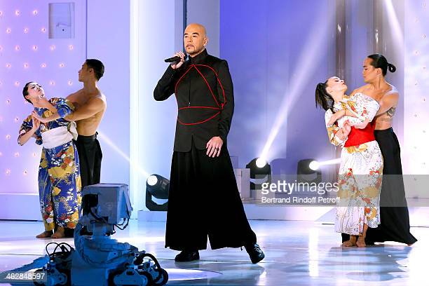 Singer Pascal Obispo ; he is one of those composers of 'Vieillir avec toi', the new album of main guest of the show, singer Florent Pagny; performs...