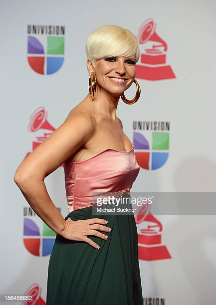 Singer Pasion Vega poses in the press room during the 13th annual Latin GRAMMY Awards held at the Mandalay Bay Events Center on November 15 2012 in...