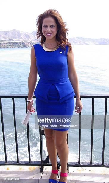 Singer Pastora Soler receives 'Turista de Honor 2012' award on September 5 2012 in Nerja Spain