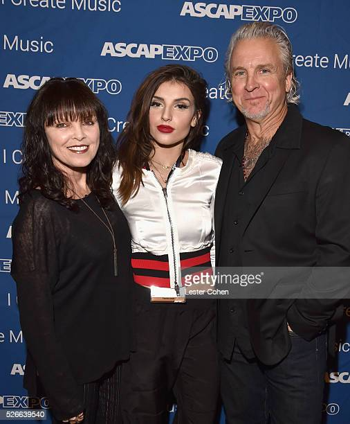 Singer Pat Benatar Hana Giraldo and musician Neil Giraldo attend the 2016 ASCAP 'I Create Music' EXPO on April 30 2016 in Los Angeles California