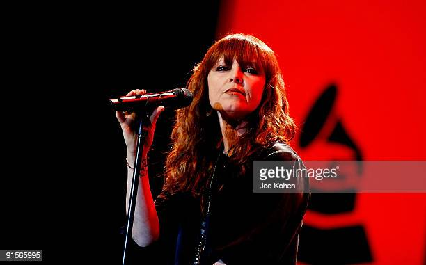 Singer Pat Benatar performs during The Recording Academy's New GRAMMY Artists Revealed Series kick off at Nokia Theatre on October 7 2009 in New York...