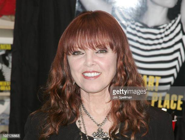 Singer Pat Benatar promotes Between A Heart And A Rock Place at Bookends Bookstore on June 15 2010 in Ridgewood New Jersey