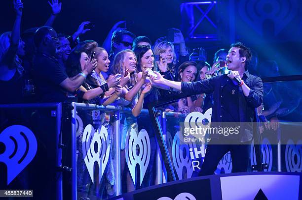 Singer Pat Monahan of Train performs onstage during the 2014 iHeartRadio Music Festival at the MGM Grand Garden Arena on September 20, 2014 in Las...