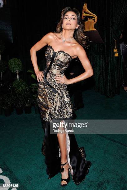 Singer Patricia Manterola arrives at the 9th Annual Latin GRAMMY Awards held at the Toyota Center on November 13 2008 in Houston Texas