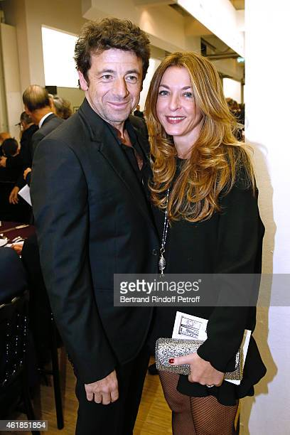 Singer Patrick Bruel and Arabella Rahi Mahdavi attend the Societe des Amis du Musee National d'Art Moderne Dinner at Beaubourg on January 20 2015 in...
