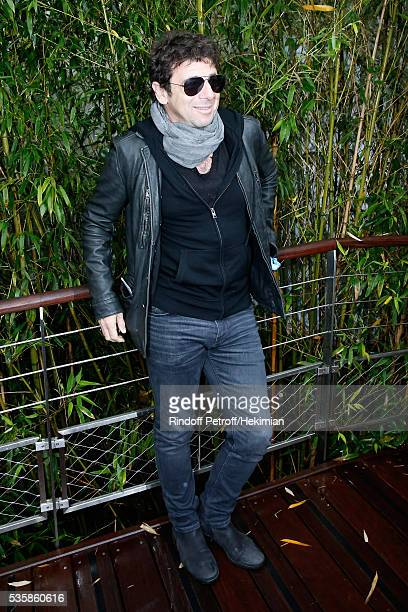 Singer Patrick Bruel attends Day Nine of the 2016 French Tennis Open at Roland Garros on May 30 2016 in Paris France
