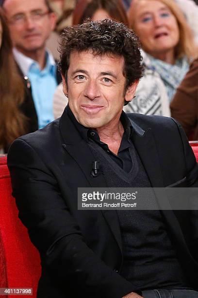 Singer Patrick Bruel presents the 'PasteurWeizmann Association' 40th Anniversary during the 'Vivement Dimanche' French TV Show at Pavillon Gabriel on...