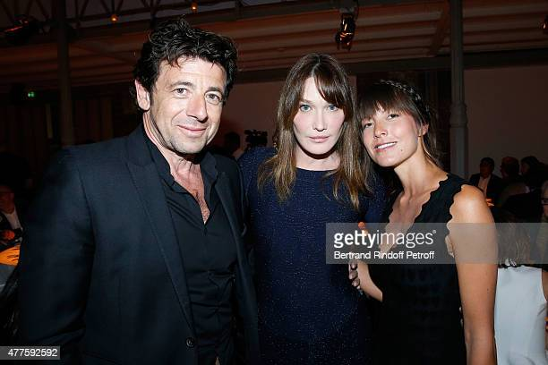 Singer Patrick Bruel Singer Carla Bruni and Caroline Nielsen attend the 'Alaia' Azzedine Alaia Perfum Launch Party on May 21 2015 in Paris France