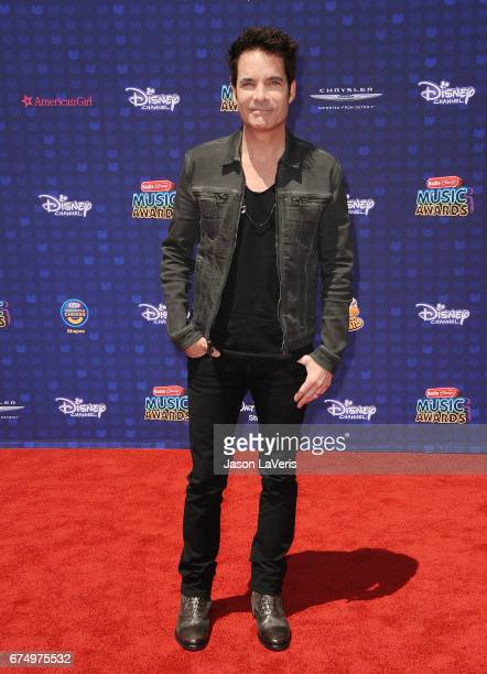 Singer Patrick Monahan and the band Train attends the 2017 Radio Disney Music Awards at Microsoft Theater on April 29 2017 in Los Angeles California