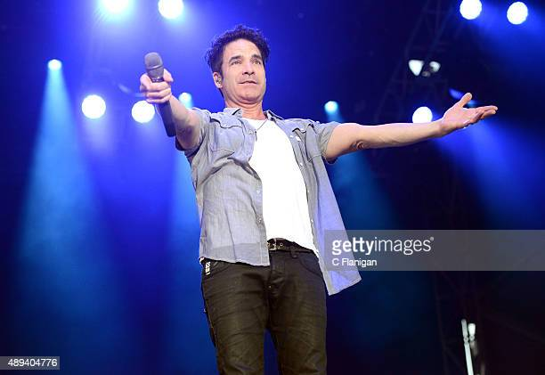Singer Patrick Monahan of Train performs onstage during 2015 KAABOO Del Mar at the Del Mar Fairgrounds on September 20 2015 in Del Mar California