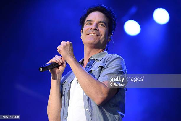 Singer Patrick Monahan of Train performs onstage during 2015 KAABOO Del Mar at the Del Mar Fairgrounds on September 20, 2015 in Del Mar, California.