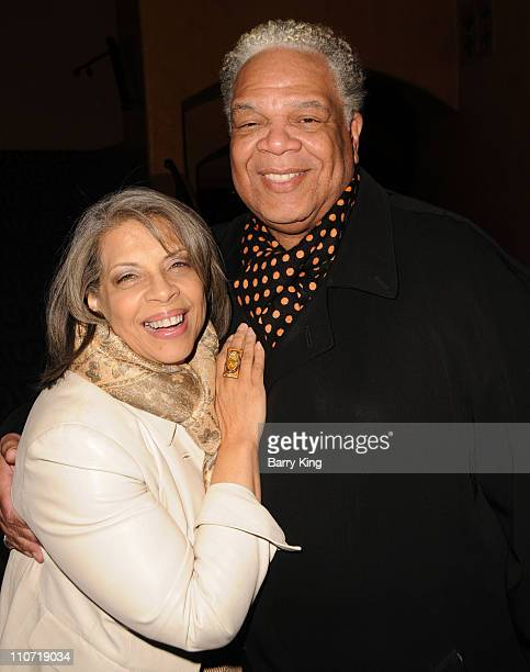 Singer Patti Austin and actor Ken Page attend the Baby It's You Opening Night at the Pasadena Playhouse on November 13 2009 in Pasadena California
