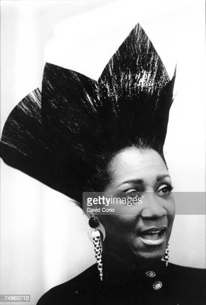 Singer Patti Labelle attends an event sporting an outrageous hair style at the Mayfair Hotel on February 11 1986 in London England