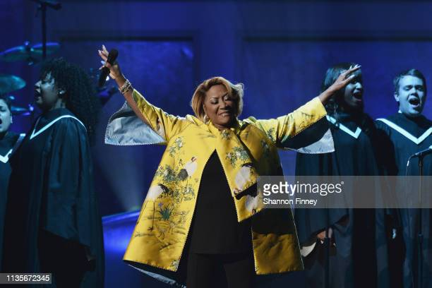 Singer Patti LaBelle performs at the 2019 Gershwin Prize Honoree's Tribute Concert at DAR Constitution Hall on March 13 2019 in Washington DC
