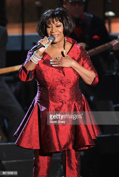 Singer Patti Labelle performs onstage at the 2008 Rock Roll Hall of Fame Induction ceremony at the WaldorfAstoria Hotel March 10 2008 in New York City