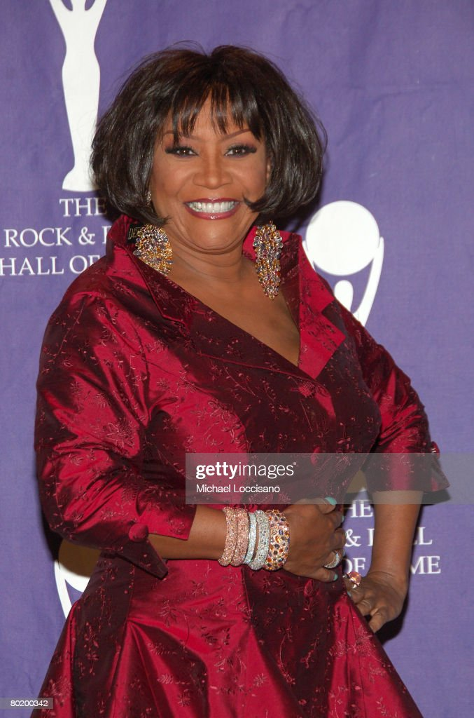 Singer Patti LaBelle poses in the press room at the 2008 Rock and Roll Hall of Fame Induction Ceremony at The Waldorf-Astoria Hotel on March 10, 2008 in New York City.