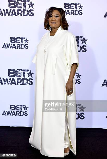 Singer Patti LaBelle poses in the press room during the 2015 BET Awards at the Microsoft Theater on June 28 2015 in Los Angeles California
