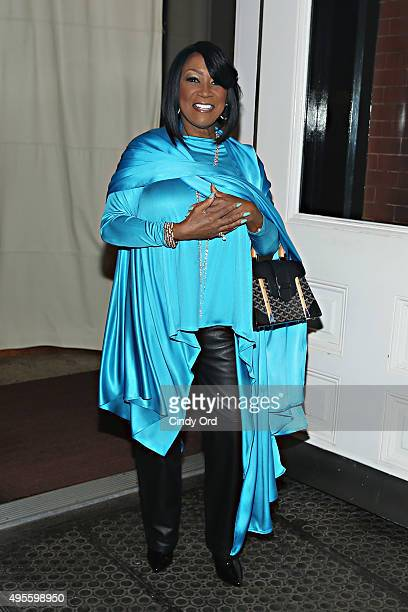 Singer Patti LaBelle seen leaving the Mercer Hotel wearing turquoise in support of the American Lung Association's LUNG FORCE initiative on November...