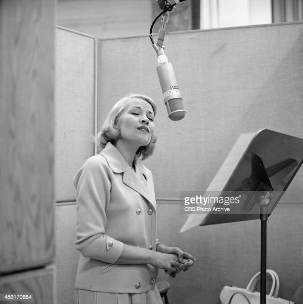 Singer Patti Page at a recording session in Los Angeles California Image dated October 13 1964