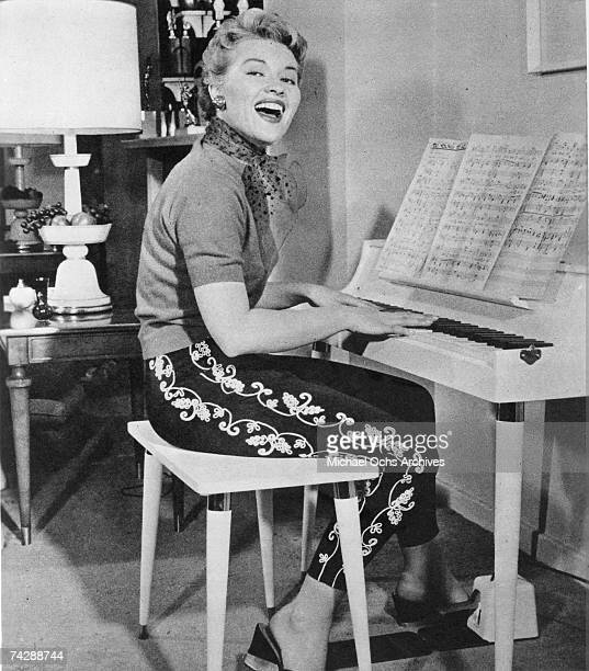 Singer Patti Page poses for a photo at home circa 1955
