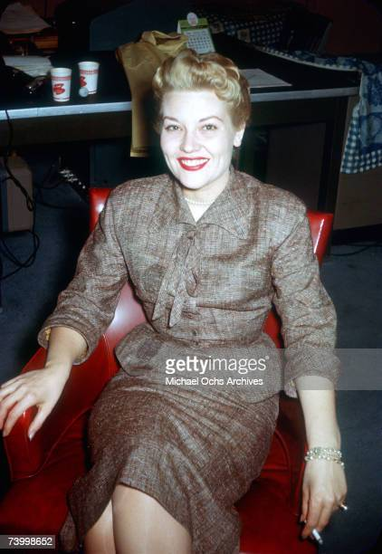 Singer Patti Page poses for a photo circa 1959 in Cleveland Ohio