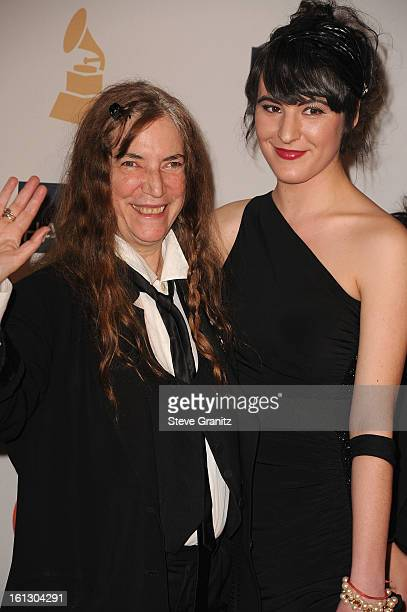 Singer Patti Smith and her daughterJesse Smith arrive at the 55th Annual GRAMMY Awards PreGRAMMY Gala and Salute to Industry Icons honoring LA Reid...