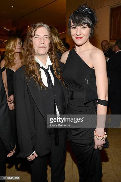 Singer Patti Smith and Jesse Smith arrive at the 55th Annual GRAMMY Awards Pre-GRAMMY Gala and Salute to Industry Icons honoring L.A. Reid held at...