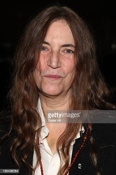 Singer Patti Smith attends the 2011 Shakespeare Society Medal presentation at the Rubin Museum of Art on December 9 2011 in New York City
